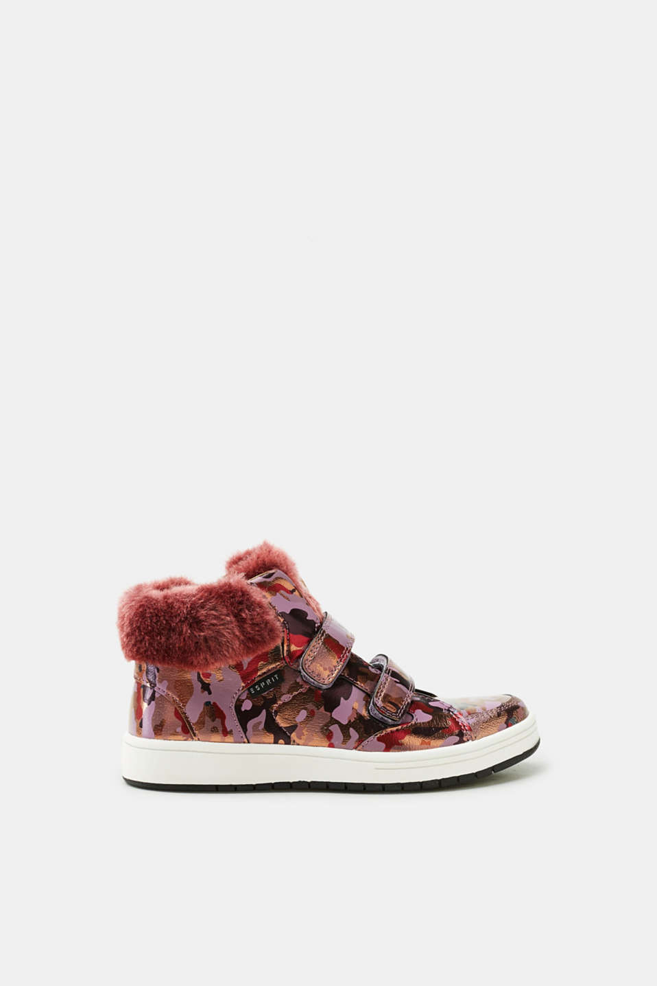 Esprit - High-top trainers with a metallic camouflage pattern