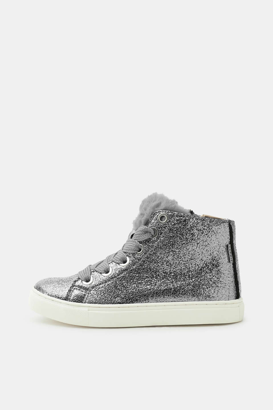 Esprit - Shiny high-top trainers