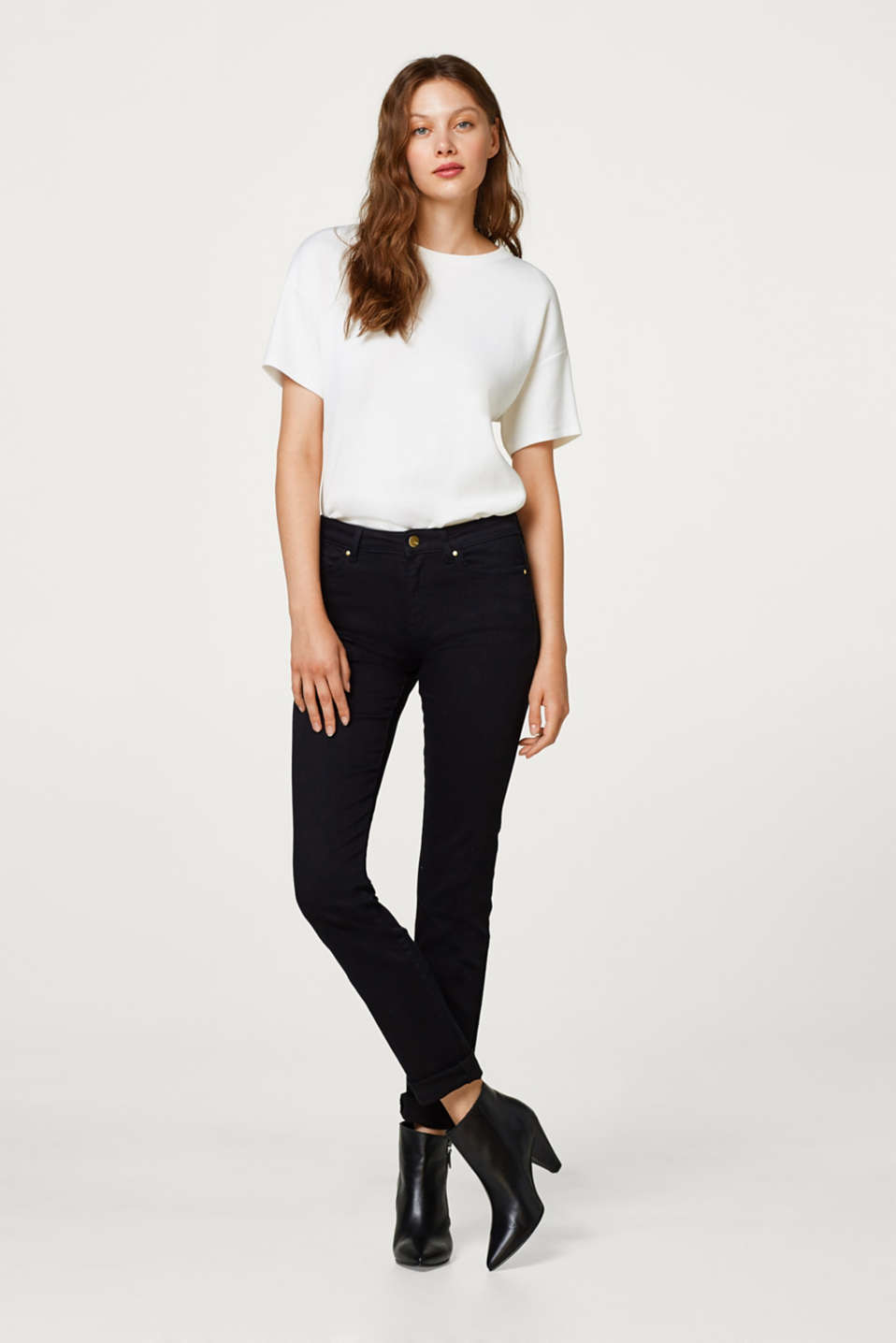 Esprit - Unembellished stretch jeans