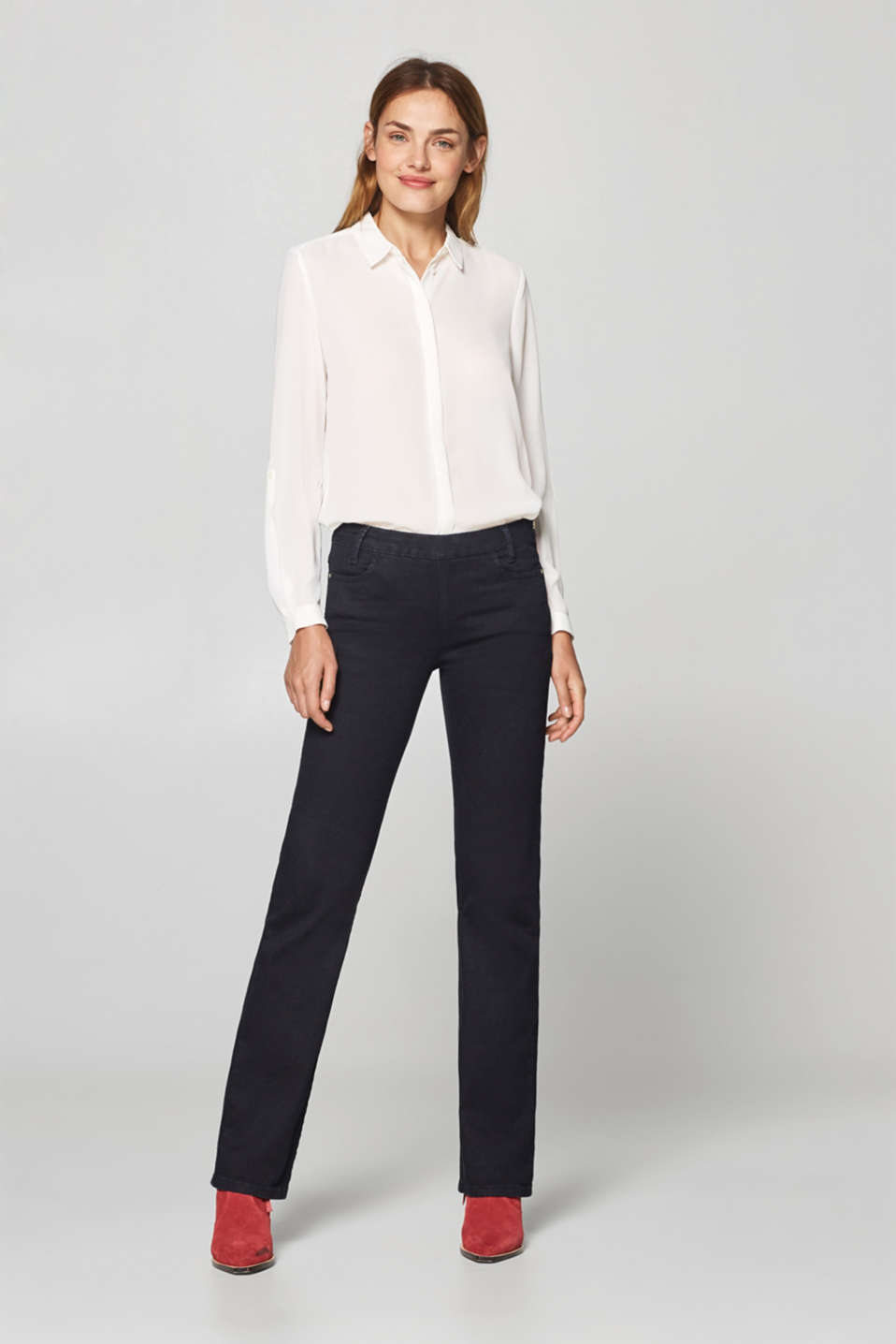 Esprit - Stretch jeans with side zip
