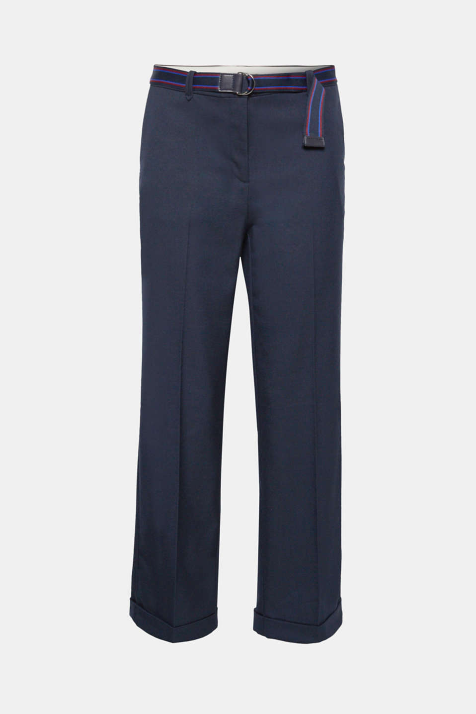 Perfect for work and business: Thanks to the loose cut with a straight, wide leg and the softly draped material, these stretch trousers look smart and elegant!