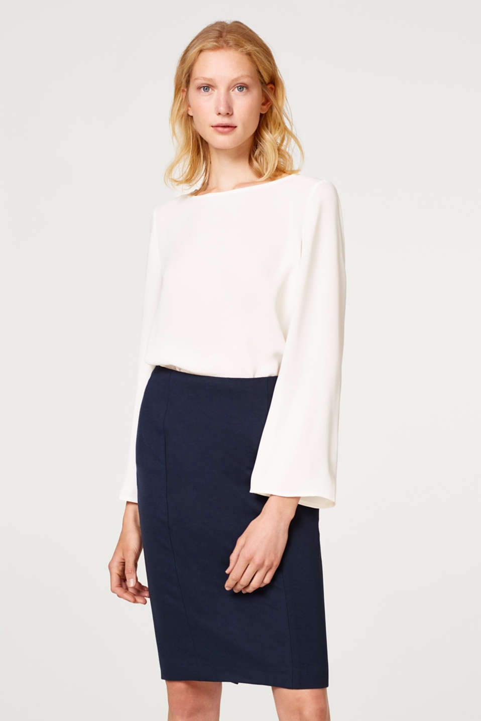 Esprit - Pencil skirt with a shaping effect
