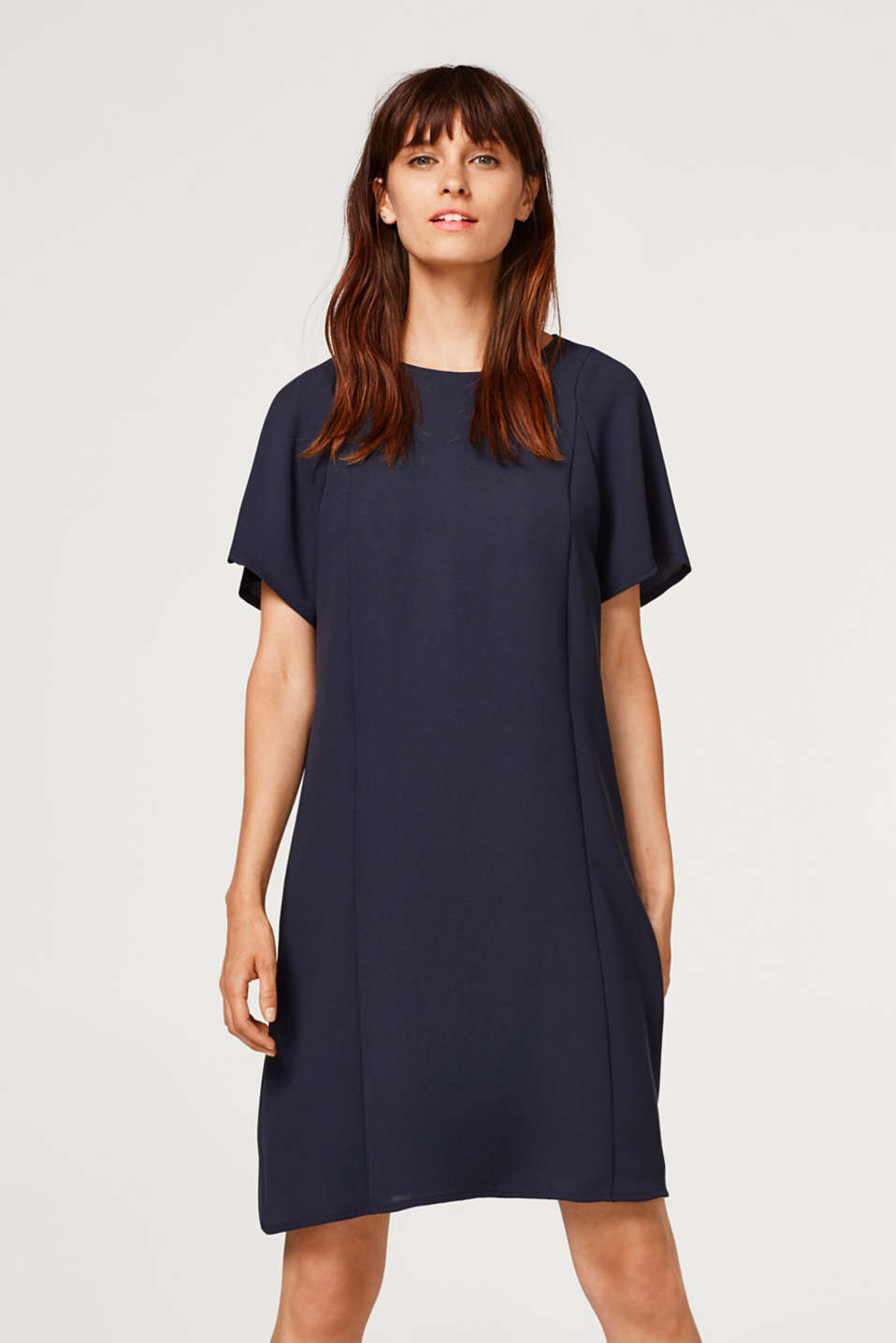 Esprit - Dress with cap sleeves