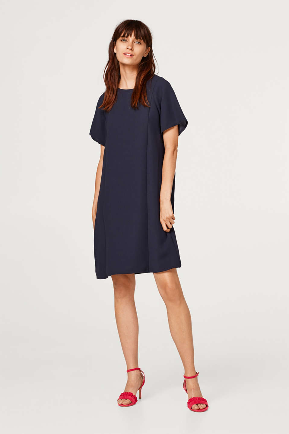 Dress with cap sleeves