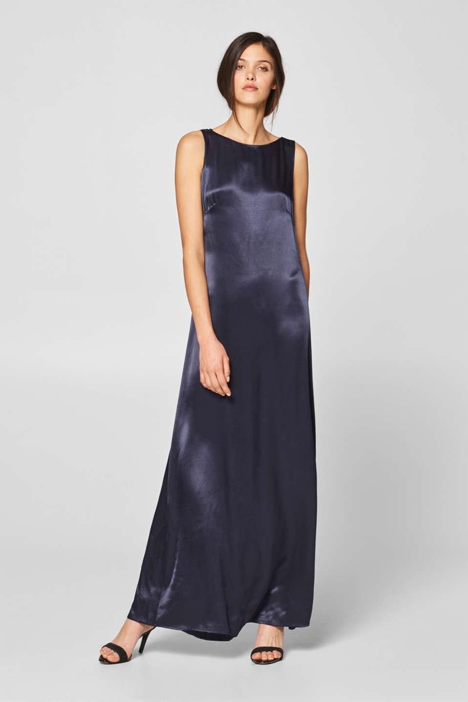 Esprit - Satin-Kleid mit Chiffon-Schleife im Online Shop ...