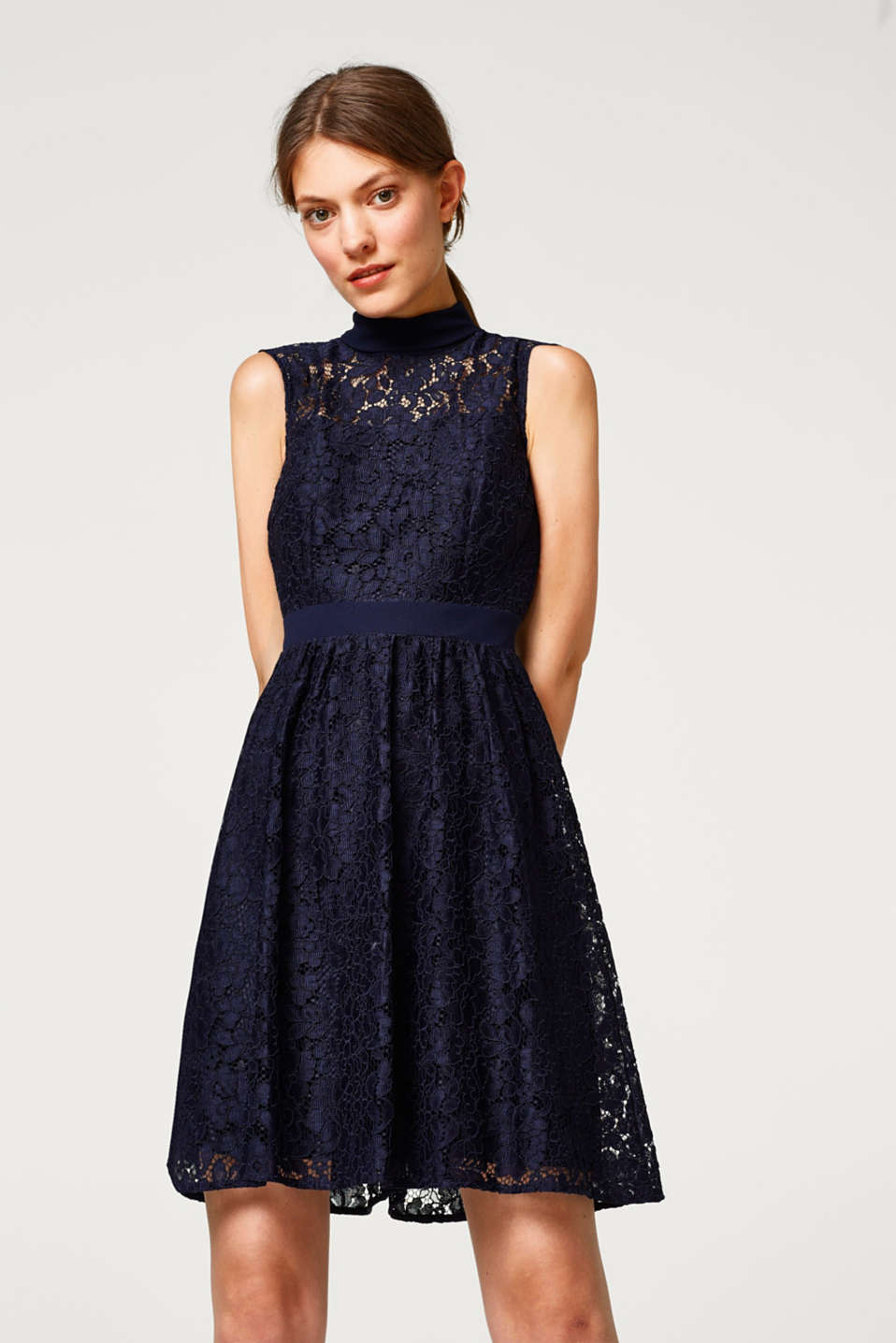 Esprit - Lace dress with loop straps