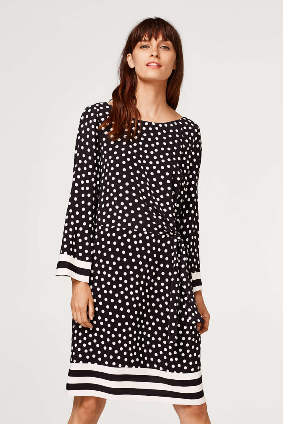 Esprit - Woven dress with a bow detail