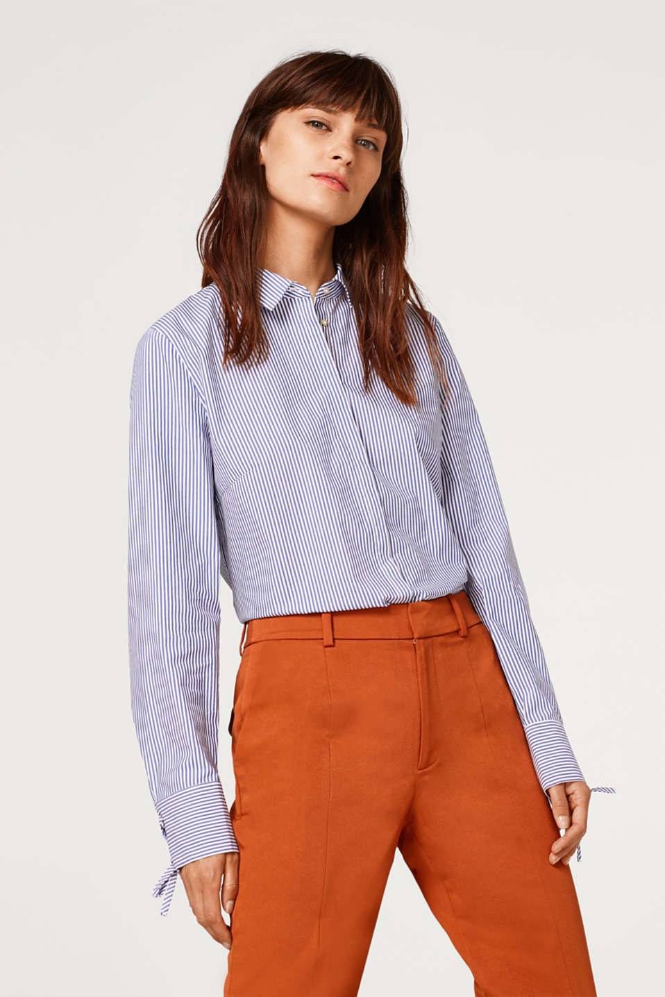 Esprit - Stretch blouse with lacing details