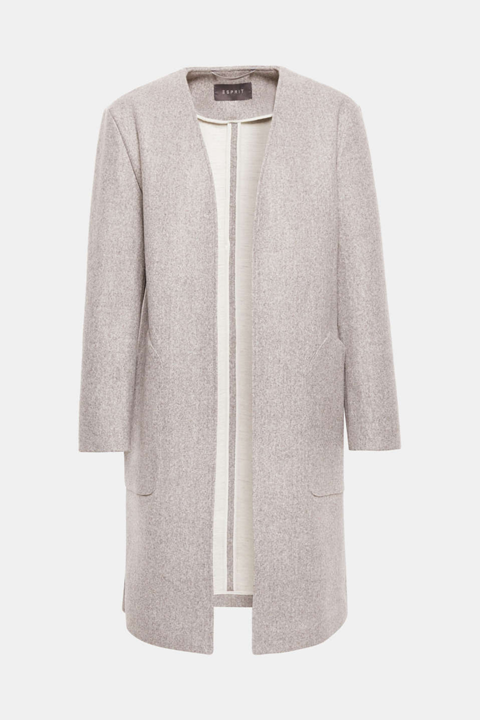 Fashion fave: this open, double-faced coat with large patch pockets is thrown on in a jiffy and looks instantly stylish and sophisticated!