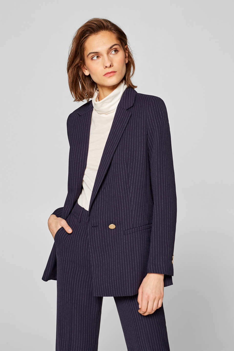 Esprit - PIN STRIPE mix + match blazer