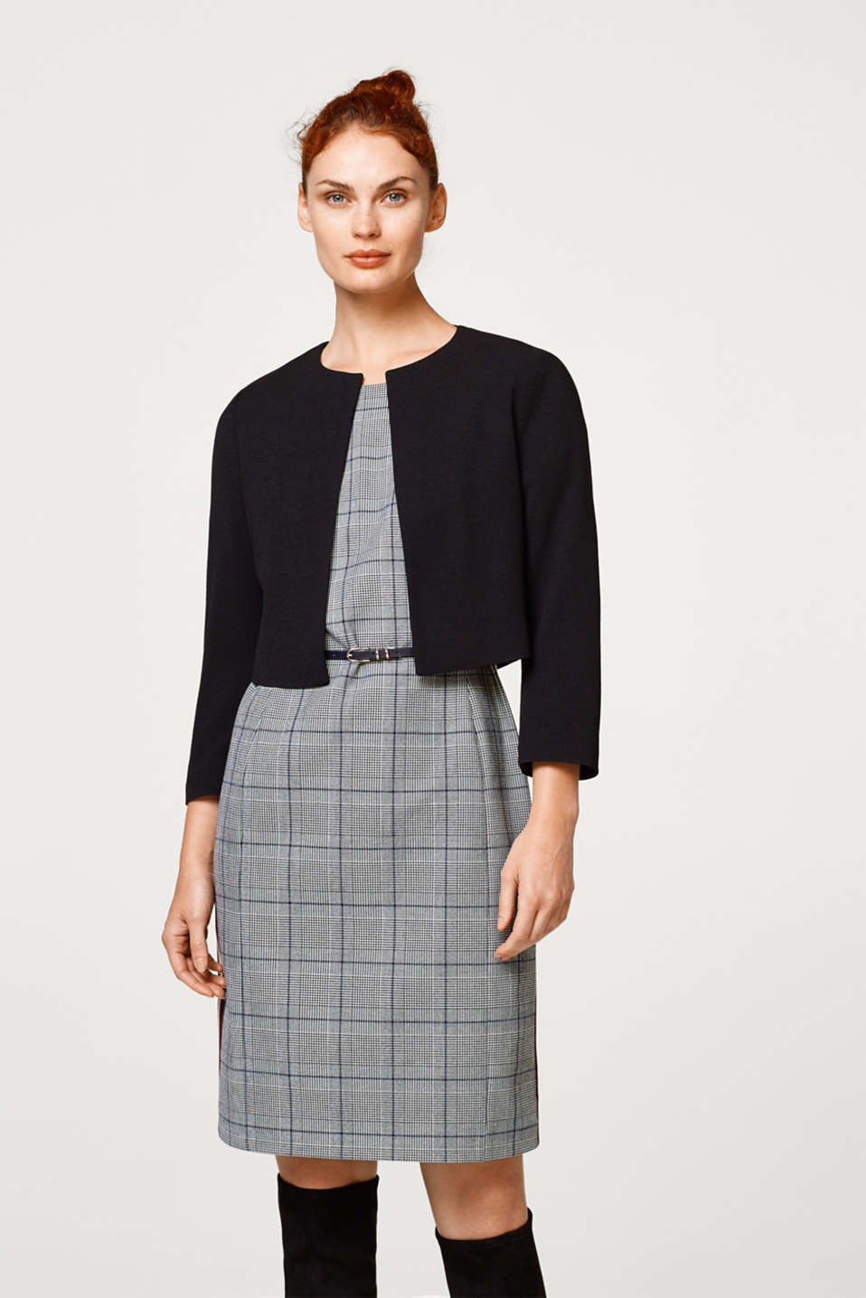 Esprit - Textured bolero jacket with stretch