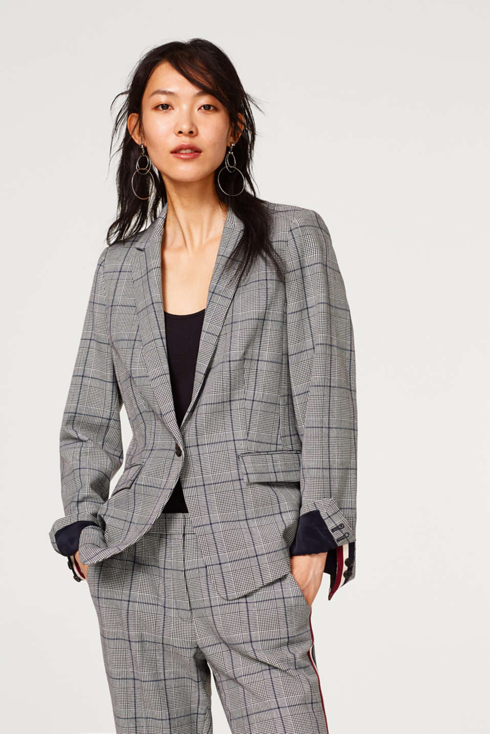 Esprit - Mix + match blazer with a Prince of Wales check
