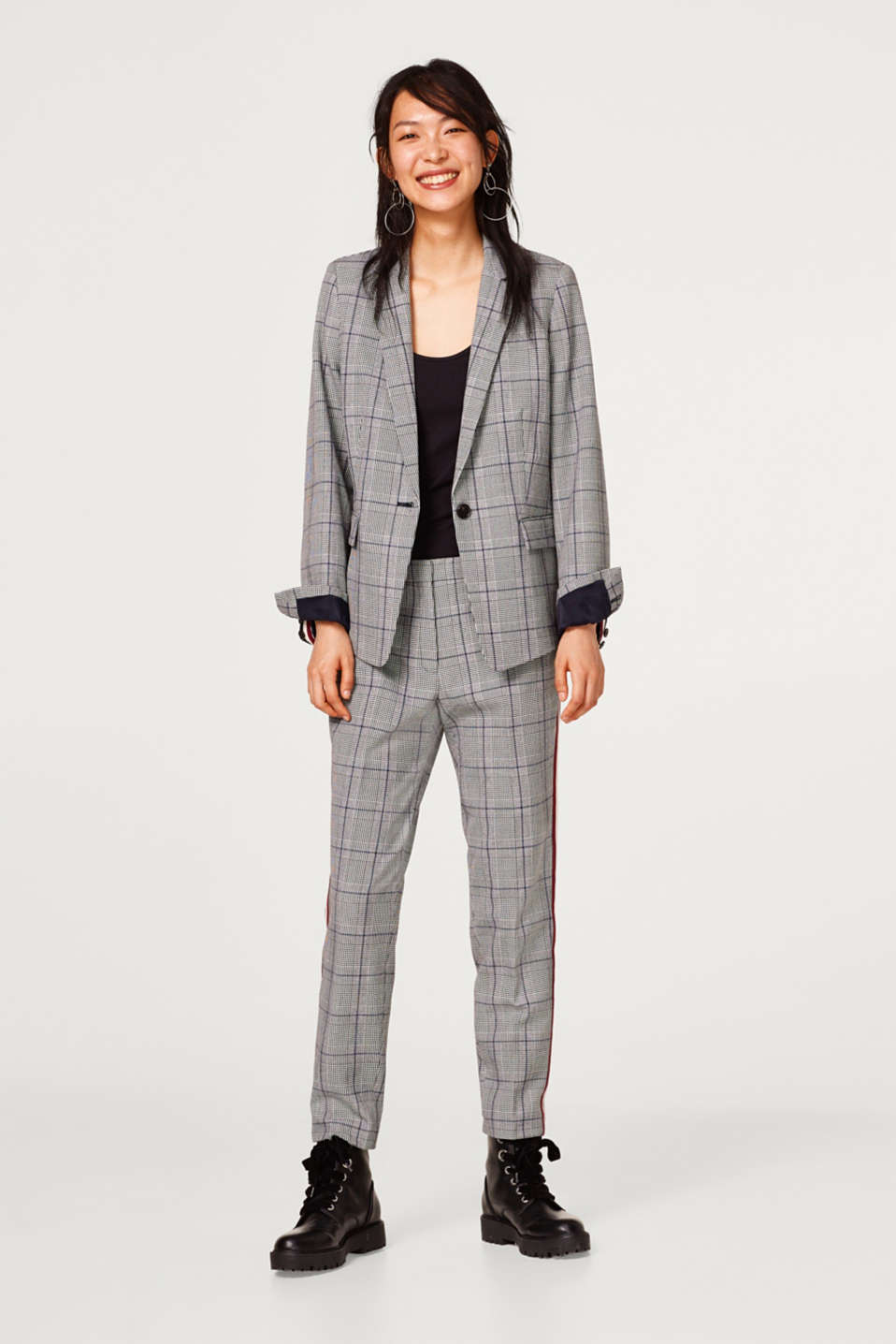 Mix + match blazer with a Prince of Wales check