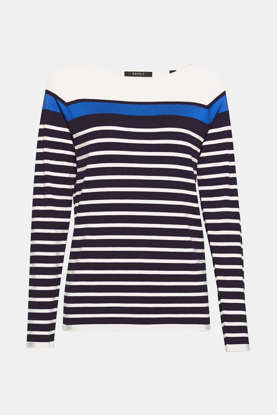 The mixture of stripes and colour blocking makes this soft fine knit jumper fashionable and easy to mix and match at the same time!