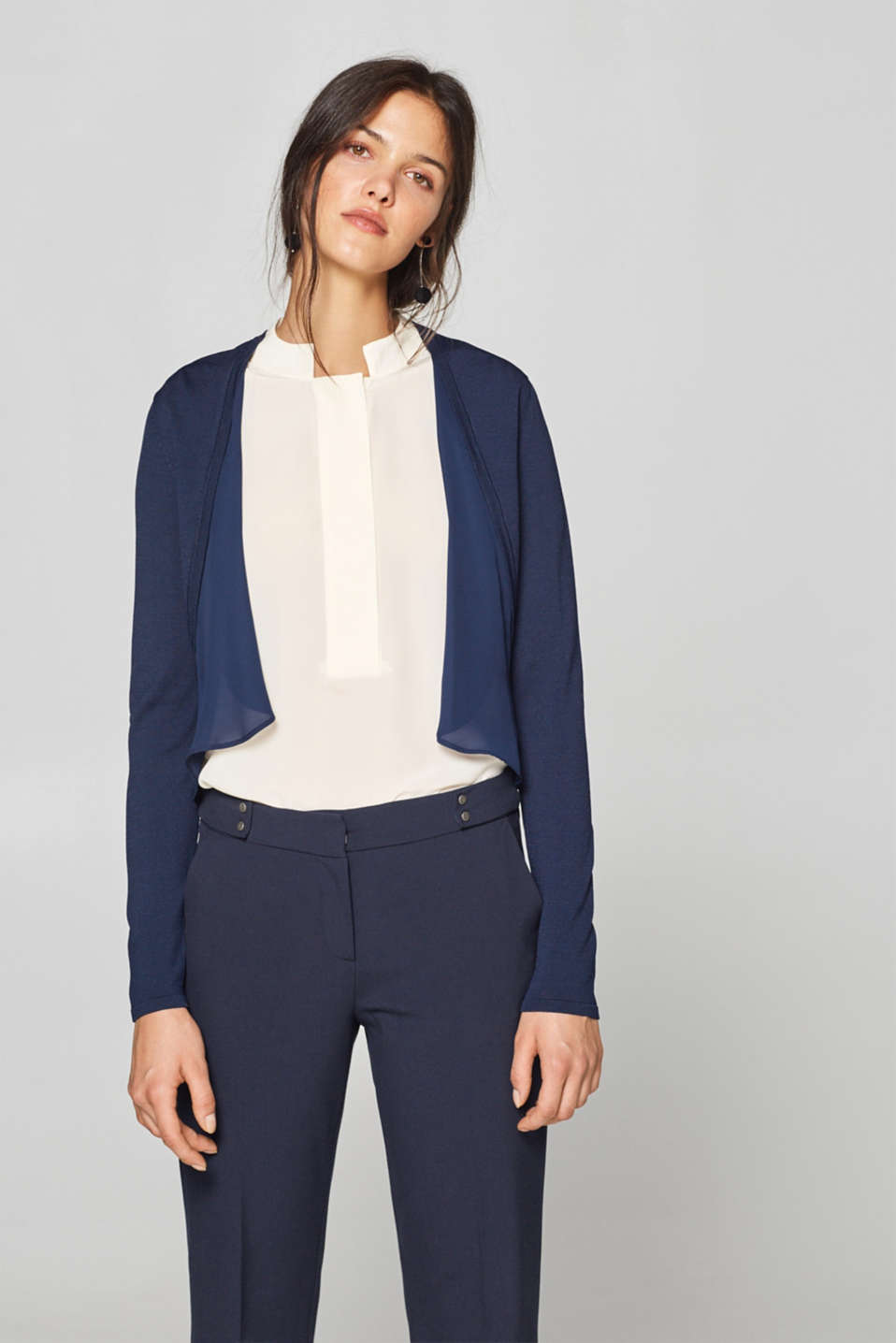 Esprit - Bolero with chiffon layering