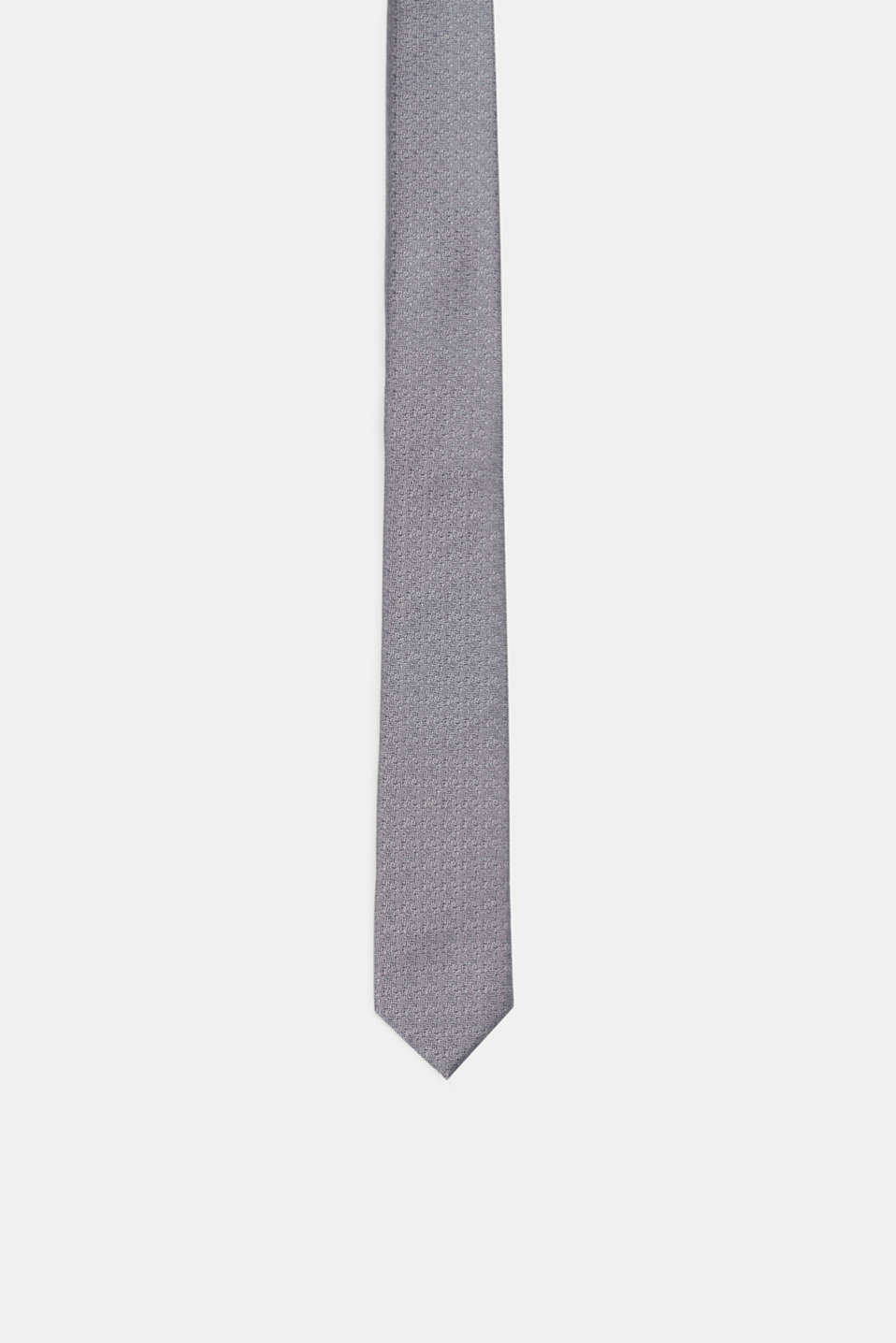 Esprit - Silk blend tie with a tonal textured pattern