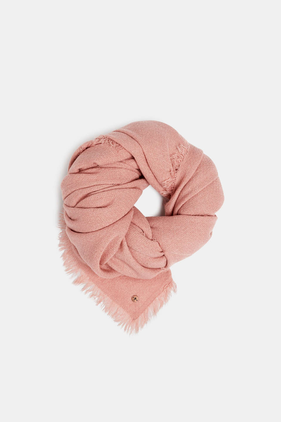Wool-effect woven scarf, BLUSH, detail image number 0