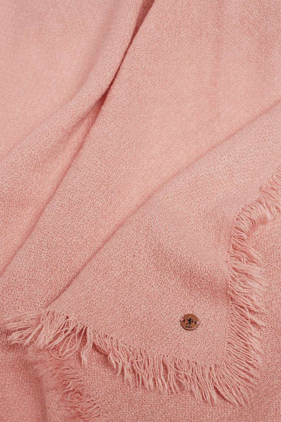 Wool-effect woven scarf, BLUSH, detail image number 2