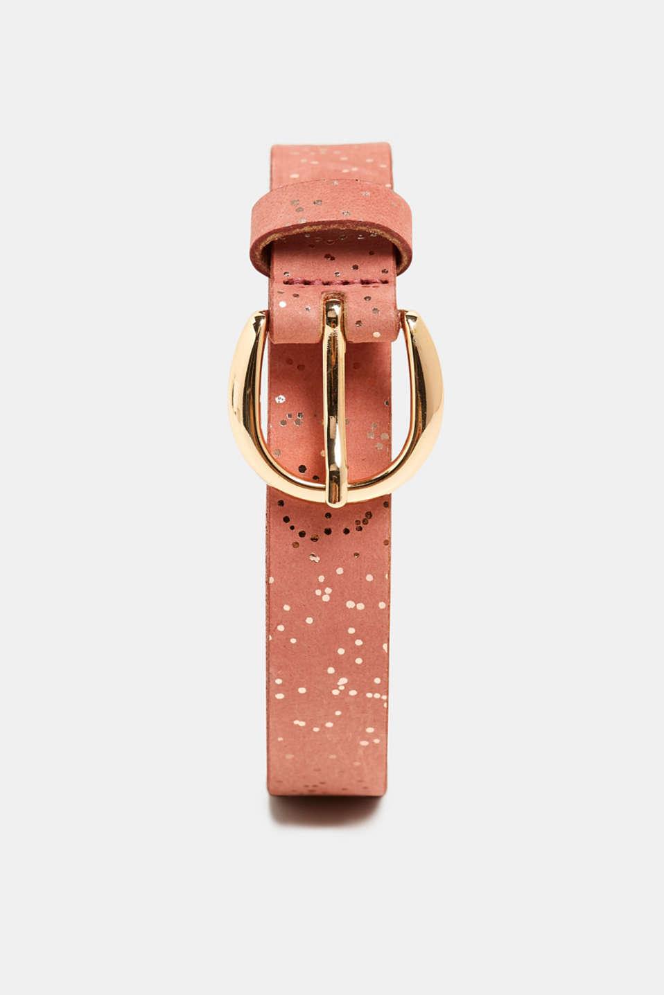 Belts leather, BLUSH, detail image number 0
