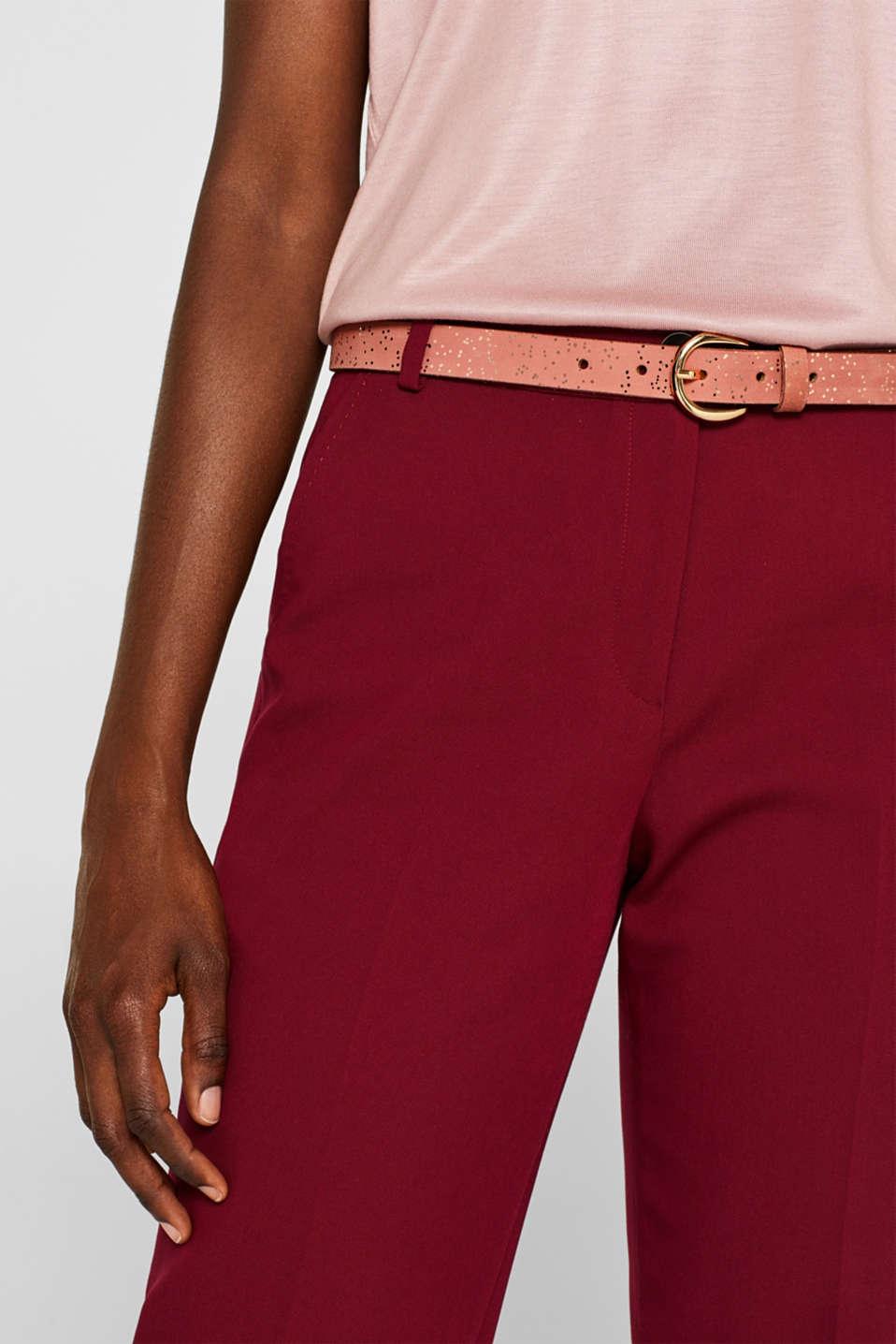 Belts leather, BLUSH, detail image number 1