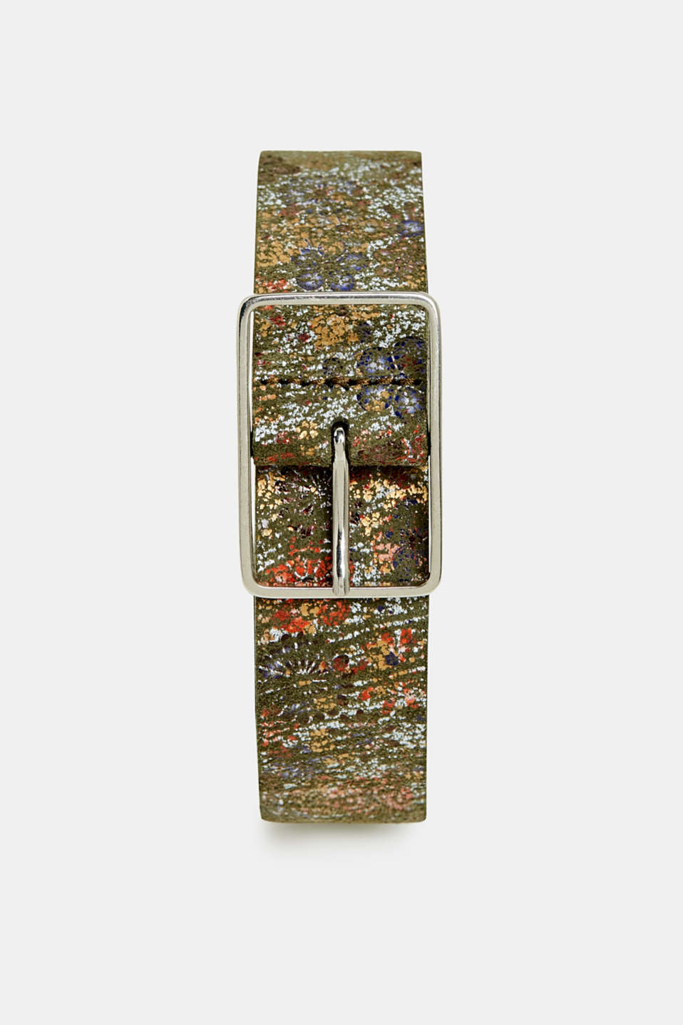 edc - Belt with a floral print, made of leather