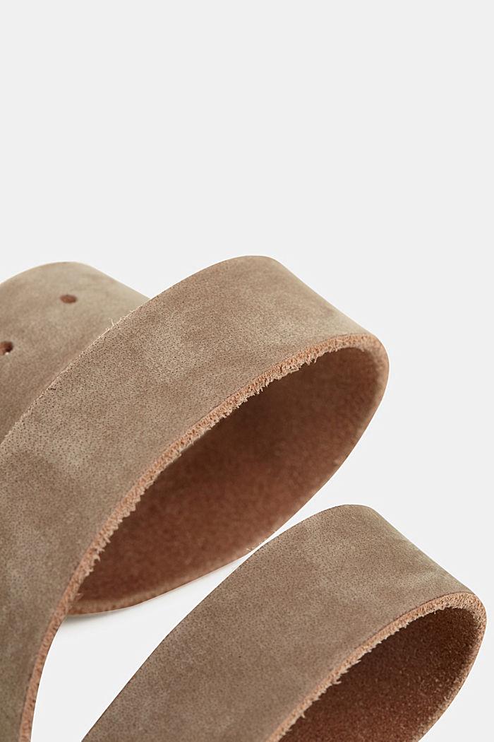 Gürtel aus Nubukleder, TAUPE, detail image number 1