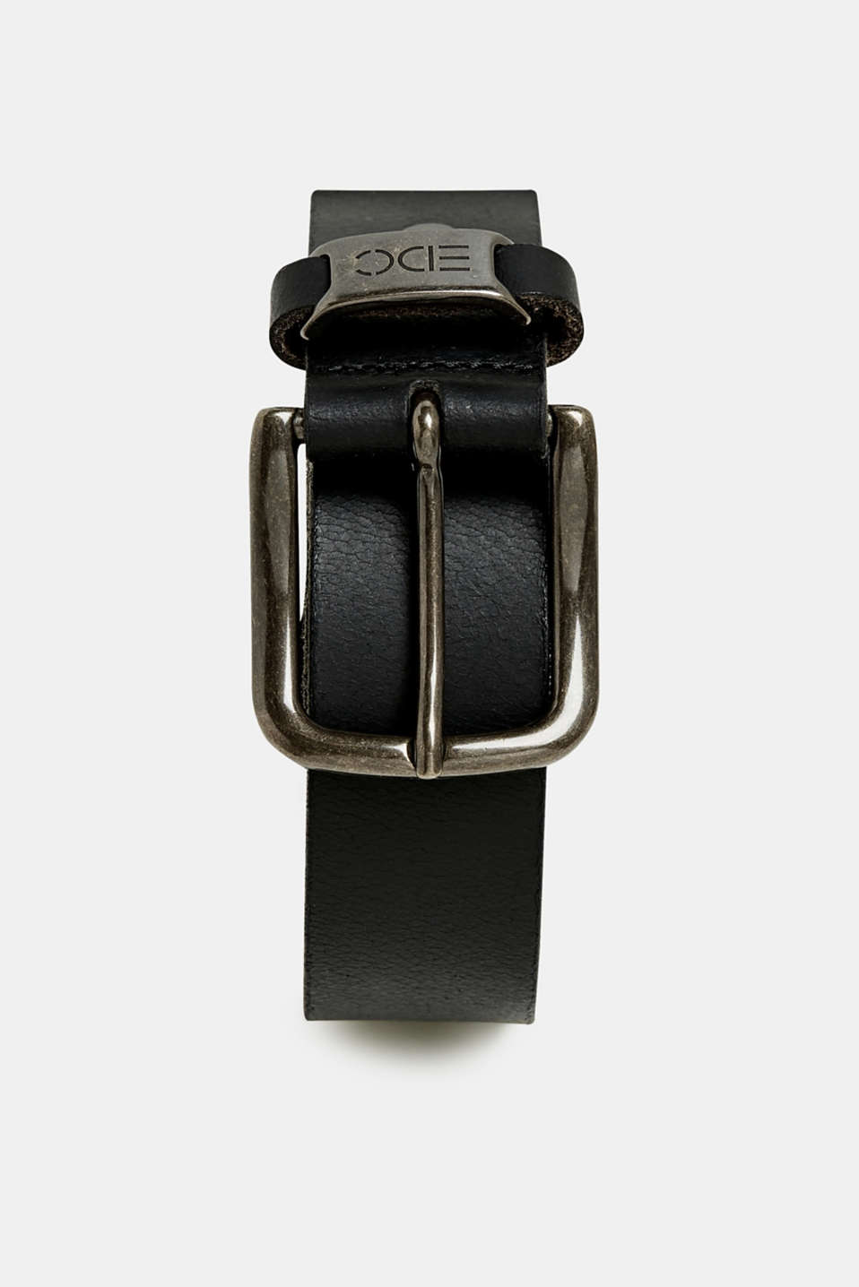 Belts leather, BLACK, detail image number 0