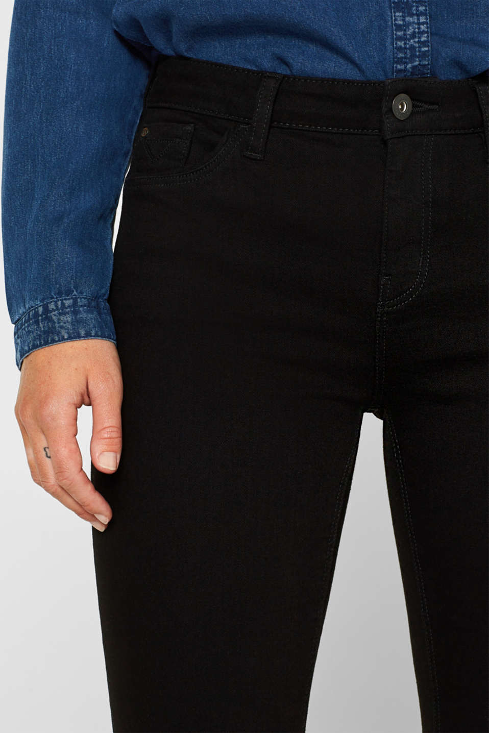 Pants denim, BLACK RINSE, detail image number 5