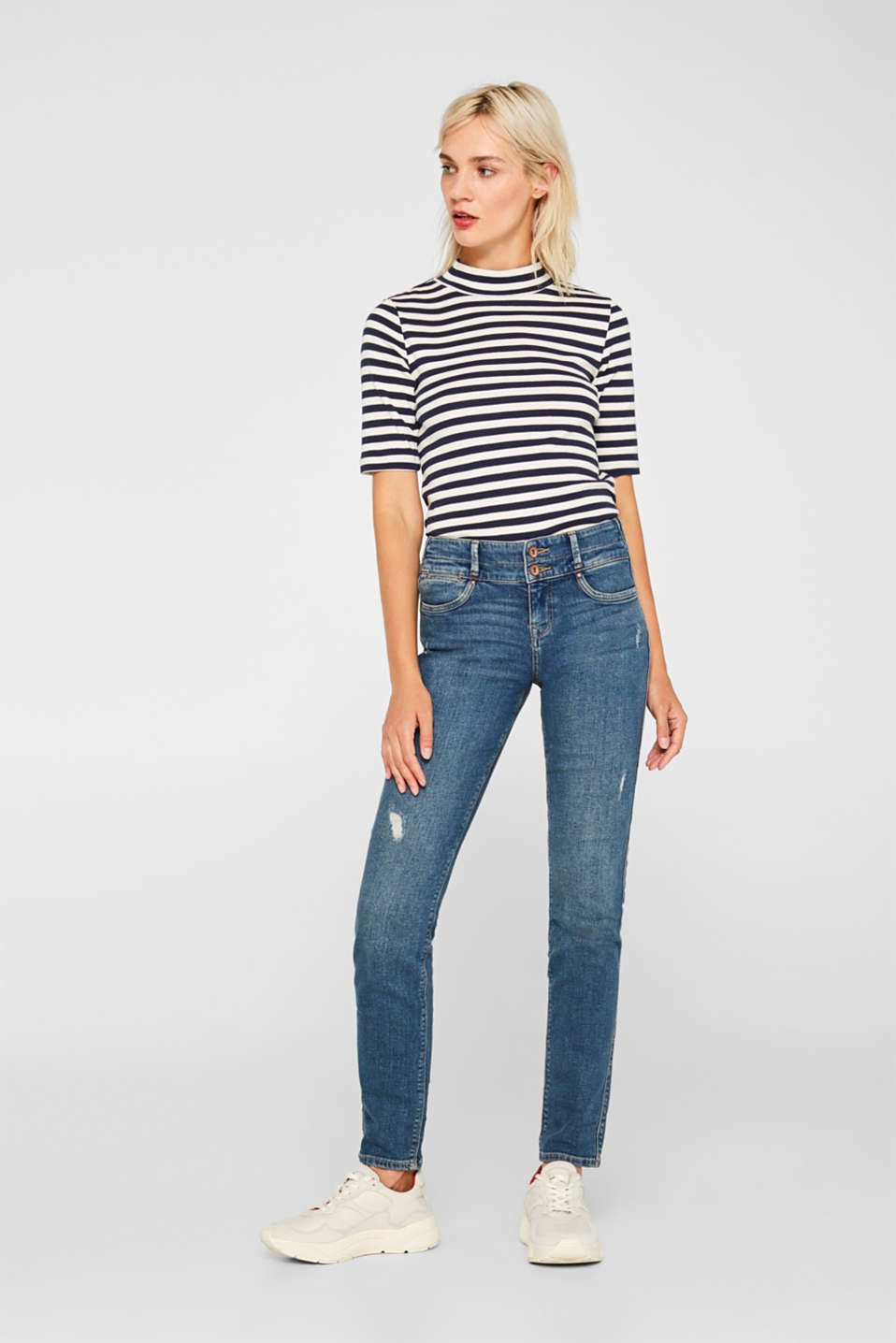 edc - Stretch jeans with a wide waistband