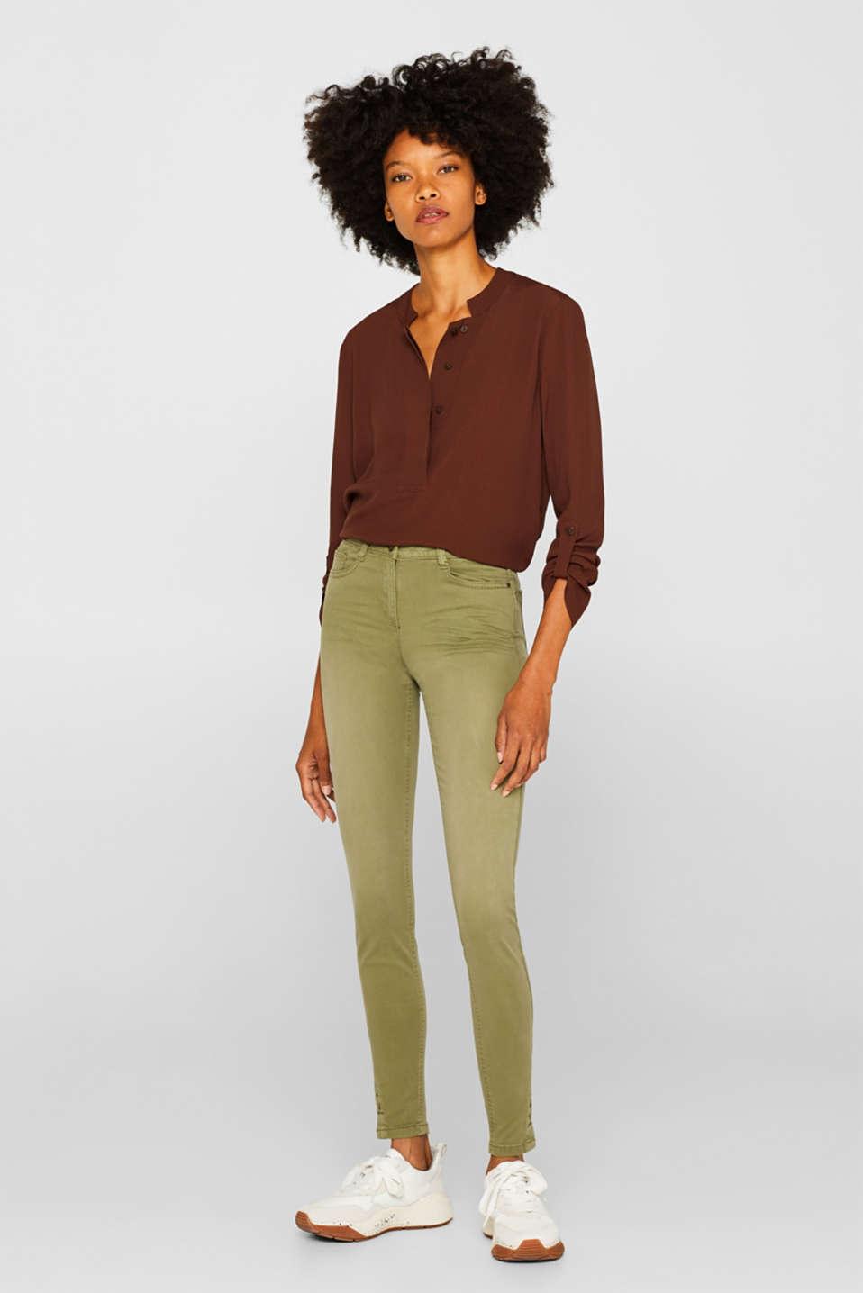 Pants woven, KHAKI GREEN, detail image number 0