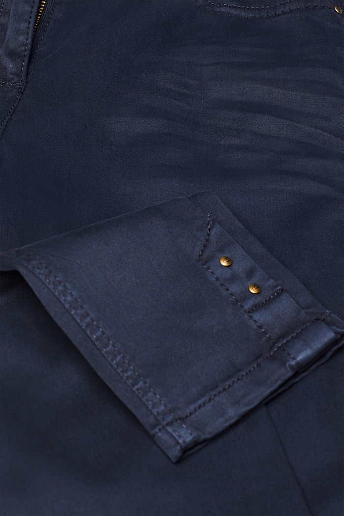 Trousers made of premium satin, NAVY, detail image number 4