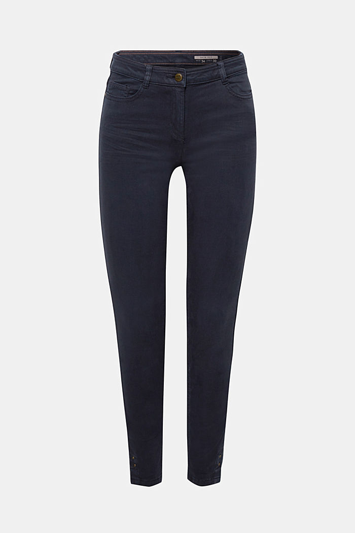 Trousers made of premium satin, NAVY, detail image number 7
