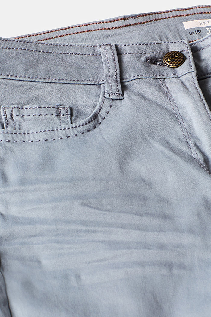 Trousers made of premium satin, BLUE LAVENDER, detail image number 4