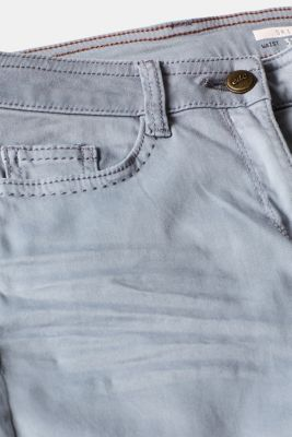 Trousers made of premium satin, BLUE LAVENDER, detail