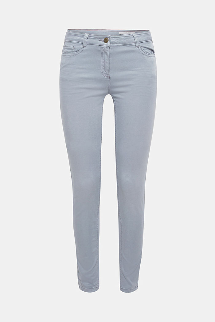 Trousers made of premium satin, BLUE LAVENDER, detail image number 0