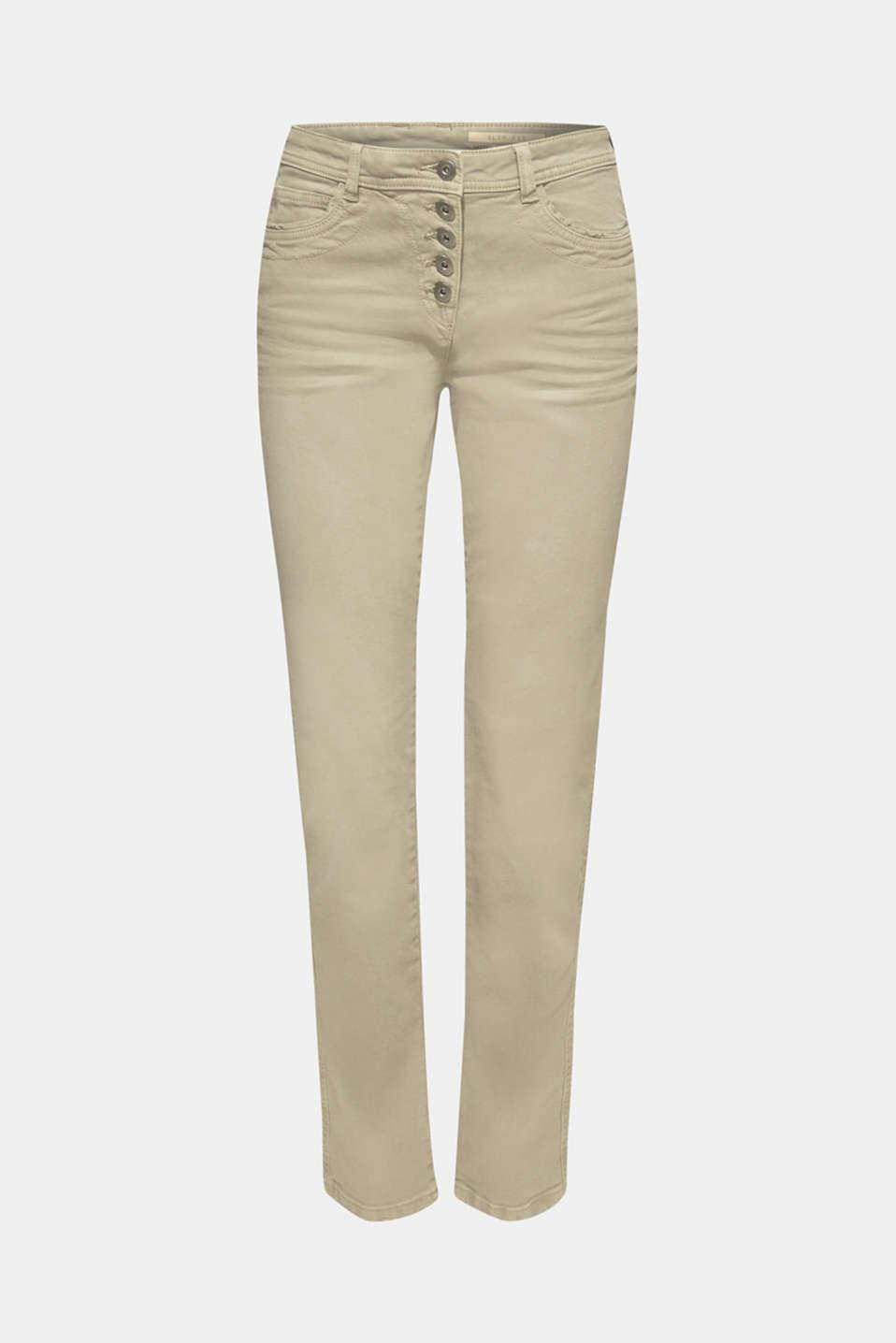 Pants woven, KHAKI GREEN, detail image number 7