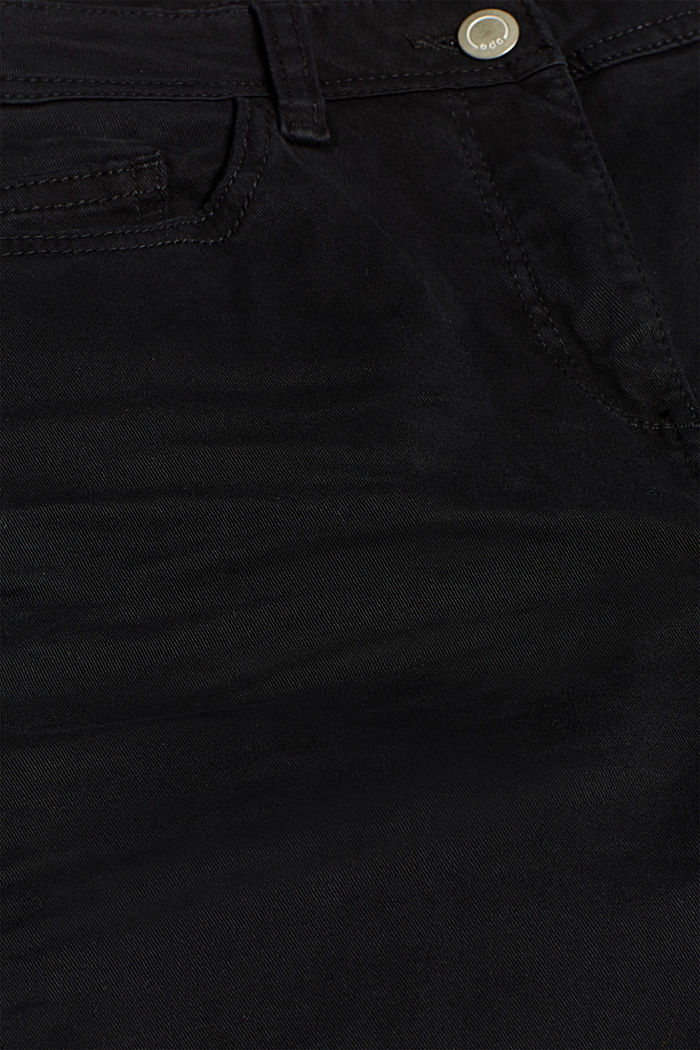 Super stretch trousers with a straight leg, BLACK, detail image number 4