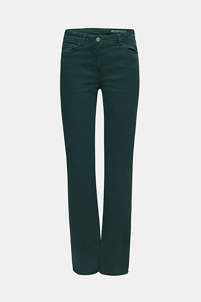 Super stretch trousers with a straight leg, DARK TEAL GREEN, detail image number 6