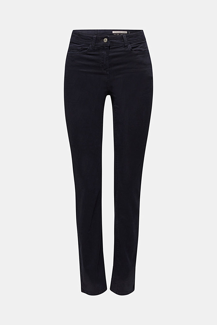 Super stretch trousers with a straight leg, NAVY, detail image number 0