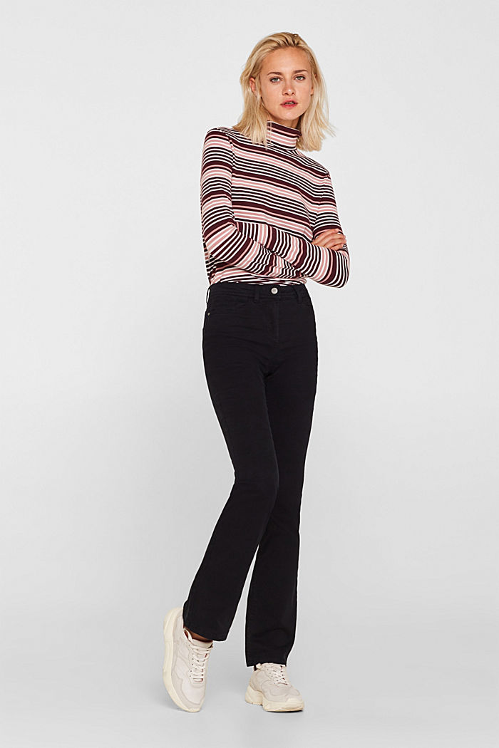 Super stretch trousers with a boot cut, BLACK, detail image number 0