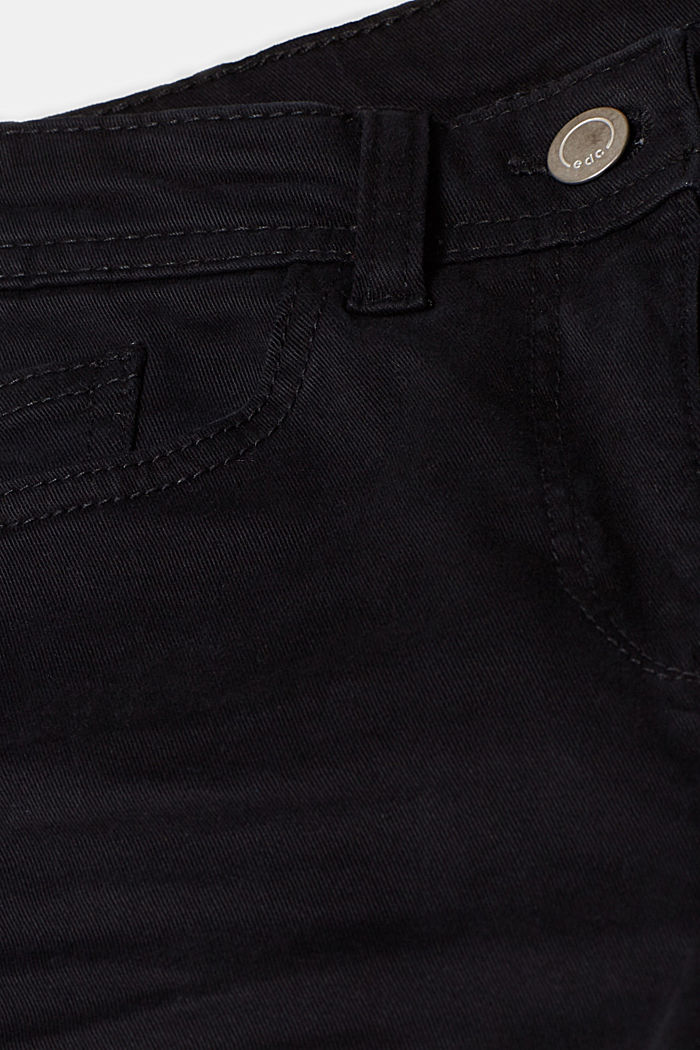 Super stretch trousers with a boot cut, BLACK, detail image number 4