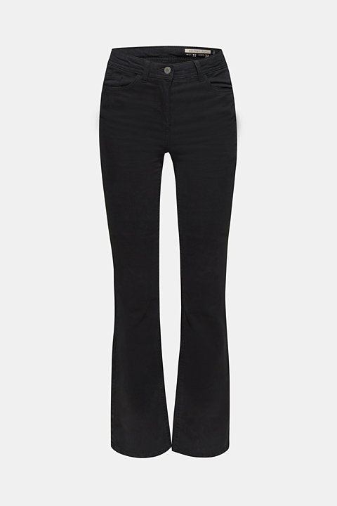 Super stretch trousers with a boot cut