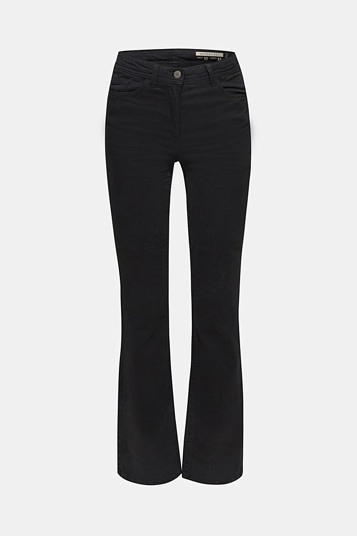 Super stretch trousers with a boot cut, BLACK, detail image number 8