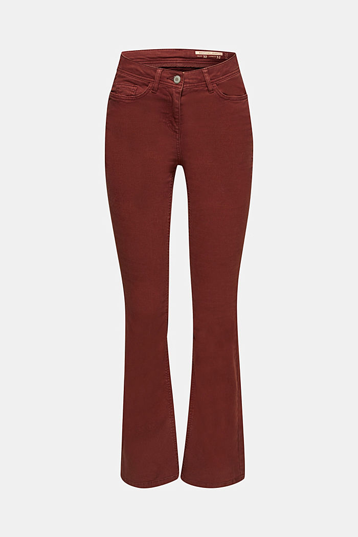 Super stretch trousers with a boot cut