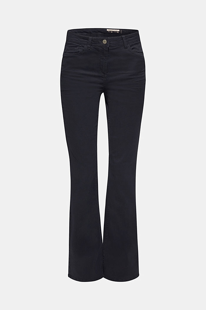 Super stretch trousers with a boot cut, NAVY, detail image number 0