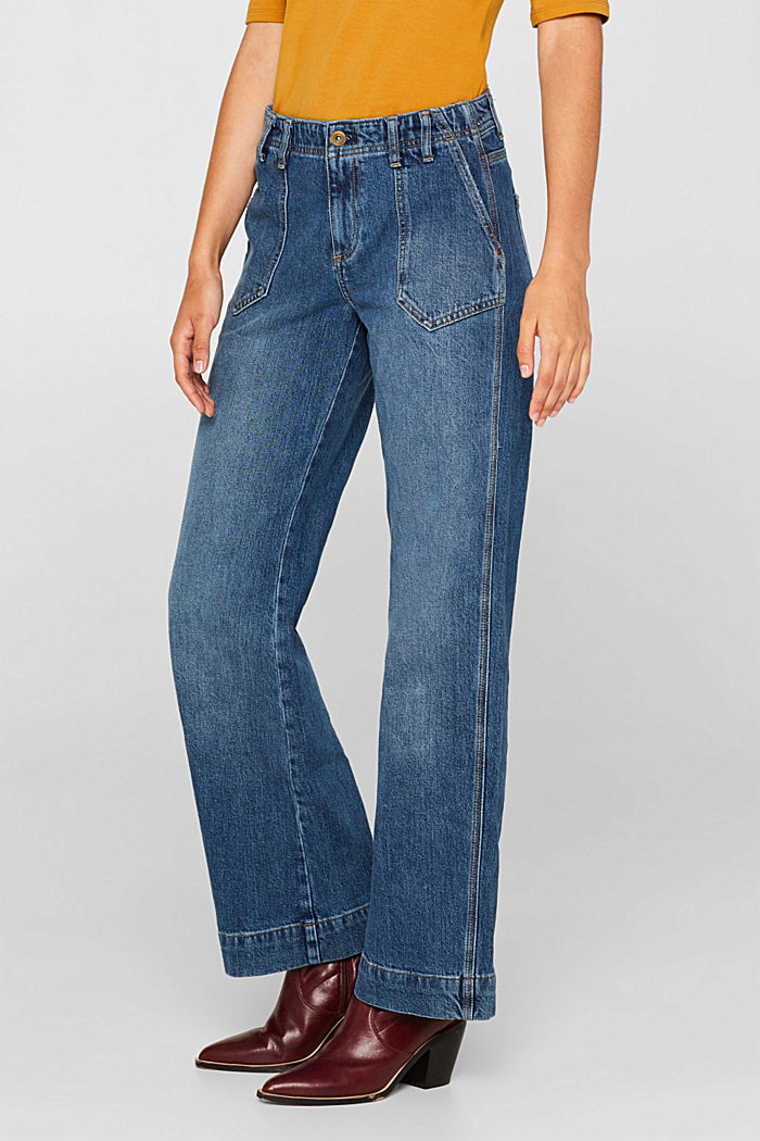 Stretch jeans with TENCEL™, BLUE MEDIUM WASHED, detail image number 7