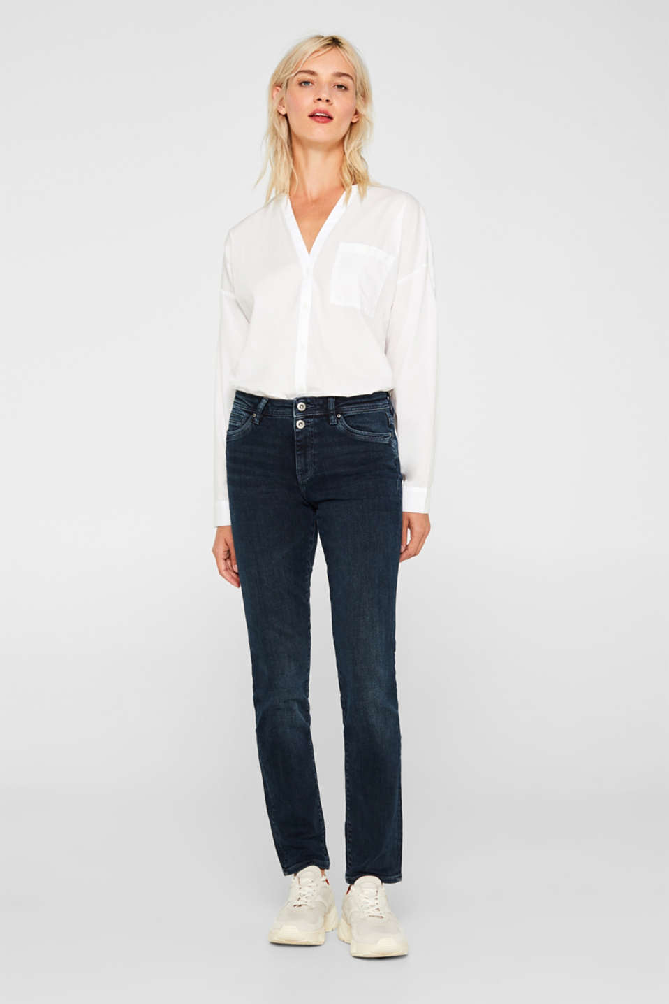 edc - Stretch jeans with double button