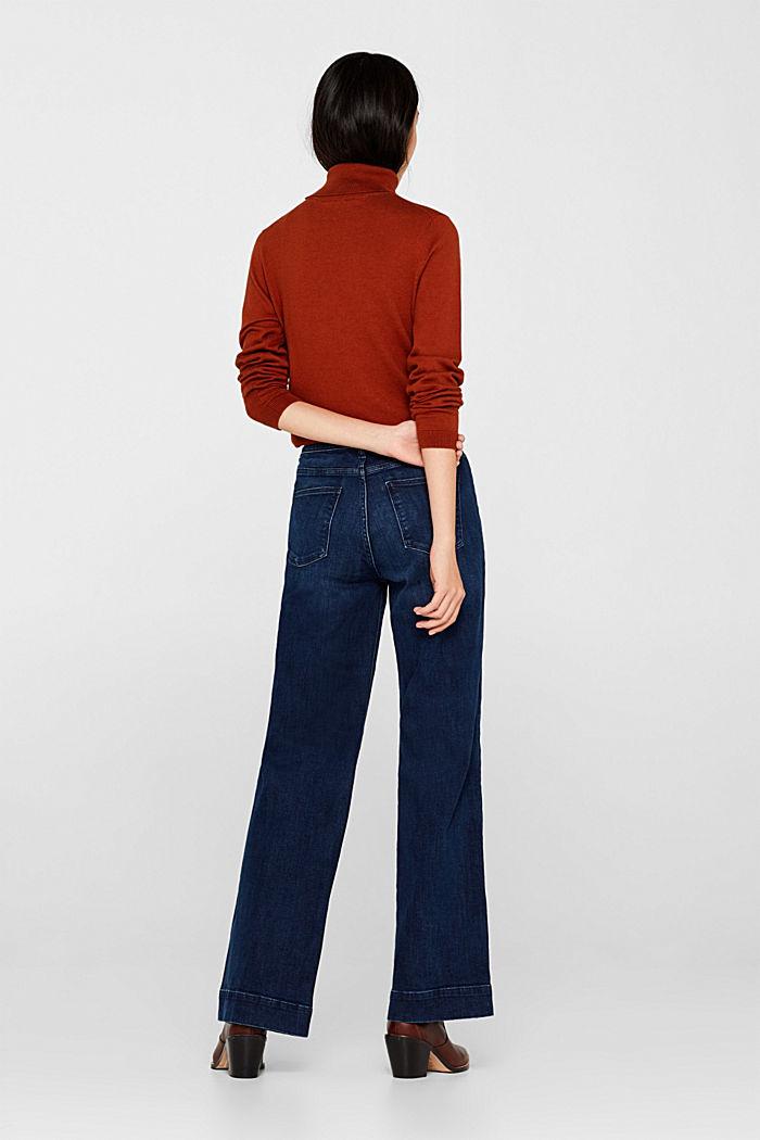 Stretch-Jeans mit Knopfleiste, BLUE DARK WASHED, detail image number 3