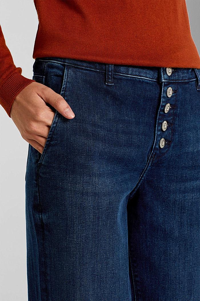 Stretch-Jeans mit Knopfleiste, BLUE DARK WASHED, detail image number 2