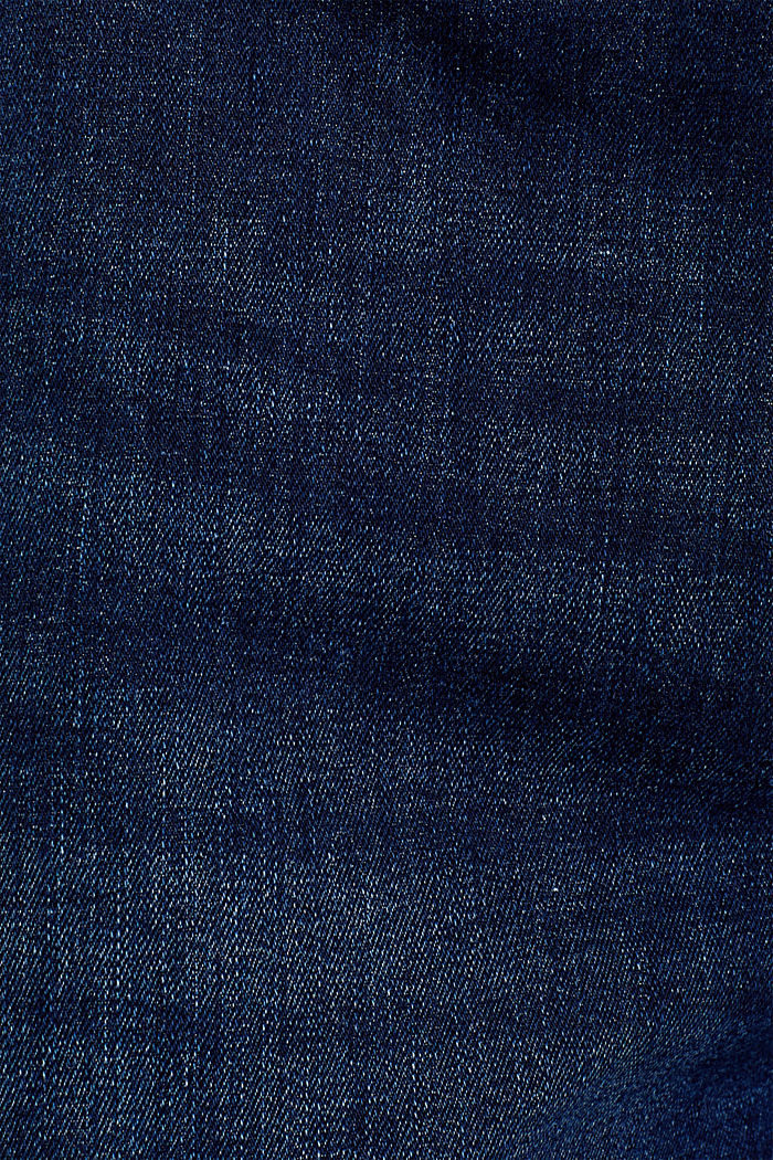 Stretch-Jeans mit Knopfleiste, BLUE DARK WASHED, detail image number 4